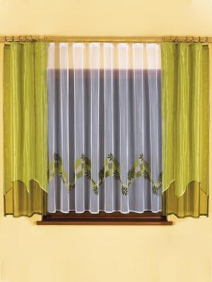 Комплект штор Сандра Wisan. Цвет: зеленый