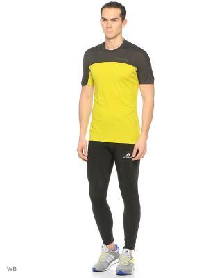 Футболка спортивная Adidas. Цвет: желтый