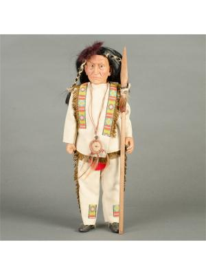 Кукла Chieff Joseph- Шаман Lamagik S.L. Цвет: бежевый, кремовый