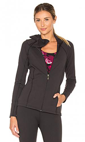 Куртка с бантом на шее Beyond Yoga. Цвет: черный
