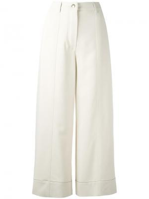 Широкие брюки Sonia Rykiel. Цвет: телесный