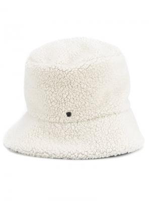 Текстурированная шляпа Maison Michel. Цвет: телесный