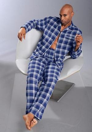 Пижама из фланели, H.I.S. Цвет: синий