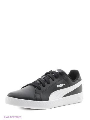 Кроссовки Puma Smash Wns L. Цвет: черный, белый