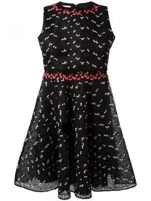Платье с принтом Giamba. Цвет: чёрный