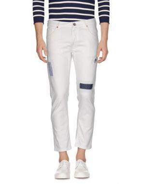 Джинсовые брюки-капри JEORDIE'S. Цвет: белый