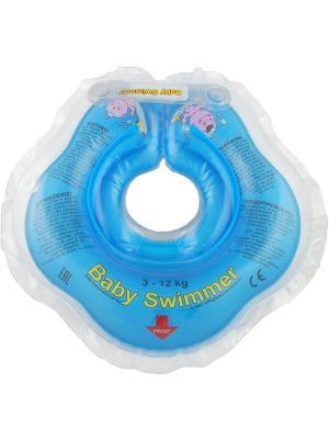 Круги на шею для детей от 0 до 24 месяцев Baby Swimmer. Цвет: голубой