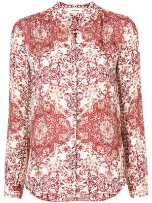 Рубашка с принтом Lagence L'agence. Цвет: красный