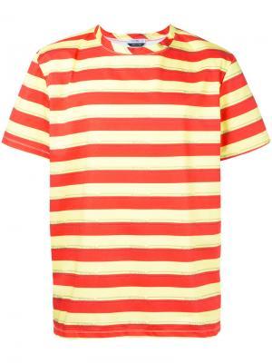 Полосатая футболка с логотипом Selfmade By Gianfranco Villegas. Цвет: красный