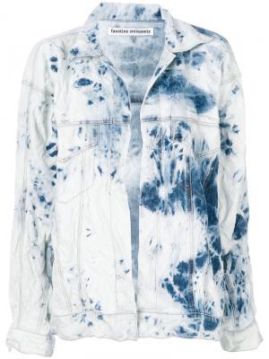 Джинсовая куртка без застежки Faustine Steinmetz. Цвет: синий
