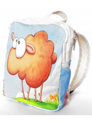 Эко-Рюкзаклён lamb АЛЬМЕД. Цвет: светло-бежевый