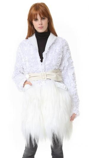 Белое пальто Rodarte. Цвет: белый