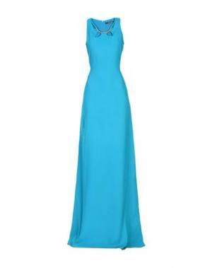 Длинное платье ROBERTO CAVALLI. Цвет: бирюзовый