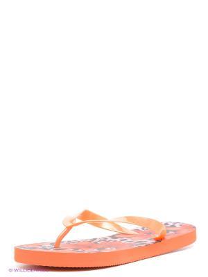 Шлепанцы Infinity Lingerie. Цвет: оранжевый
