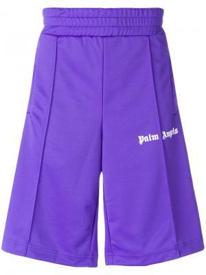Спортивные шорты с логотипом Palm Angels. Цвет: розовый и фиолетовый