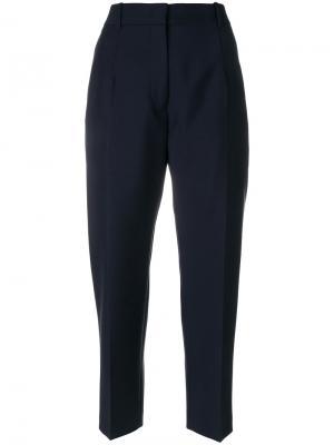 Укороченные брюки Jil Sander. Цвет: синий