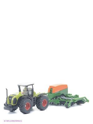 Трактор с сеялкой SIKU. Цвет: зеленый