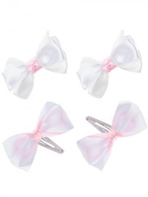 Набор аксессуаров для волос City Flash. Цвет: белый, розовый, серебристый