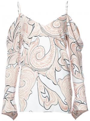 Paisley print V-neck blouse C/Meo. Цвет: телесный