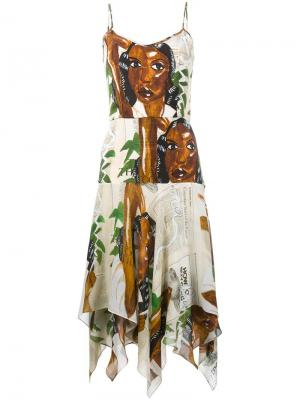 Платье с узором Tata Naka. Цвет: многоцветный