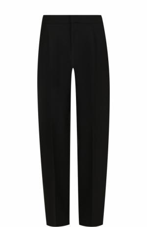 Однотонные шерстяные брюки со стрелками Jacquemus. Цвет: черный