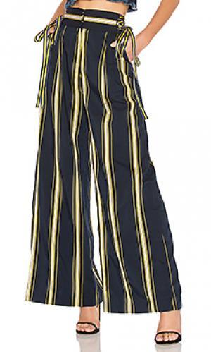 Широкие брюки dawn Tanya Taylor. Цвет: синий