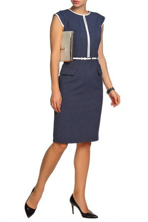 Полуприлегающее платье без рукавов Mees. Цвет: синий
