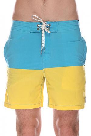 Шорты пляжные  Original Split Yellow Rip Curl. Цвет: голубой,желтый