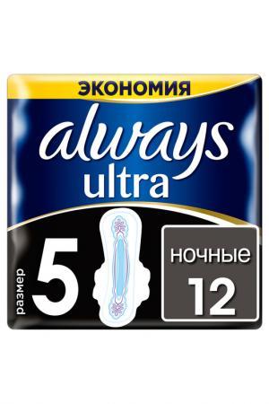 Прокладки Ultra Night, 12 шт ALWAYS. Цвет: none