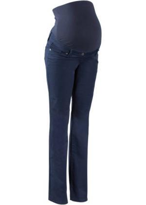 Твиловые брюки для беременных BOOTCUT (темно-синий) bonprix. Цвет: темно-синий