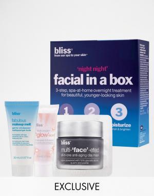 Bliss Эксклюзивный набор средств для лица Night от ASOS СКИДКА 2. Цвет: бесцветный