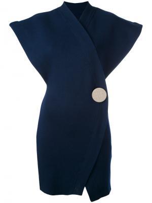 Платье без рукавов с запахом Jacquemus. Цвет: синий