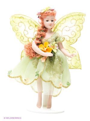 Кукла фарфоровая Нона Lisa Jane. Цвет: светло-зеленый