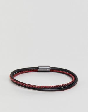 HUGO Красный браслет с логотипом на завязке. Цвет: красный