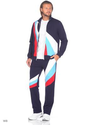 Спортивный костюм FORLIFE. Цвет: темно-синий, белый, красный