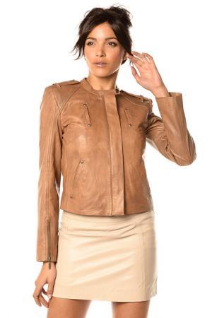 Куртка Pellessimo. Цвет: коричневый