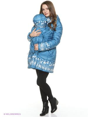 Куртка Mum`s Era. Цвет: светло-голубой