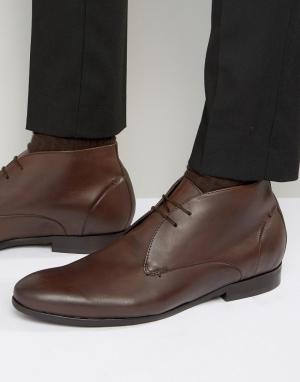 Hudson London Кожаные ботинки чукка Kender. Цвет: коричневый