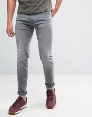 Edwin Выбеленные узкие заниженные джинсы ED-85. Цвет: черный