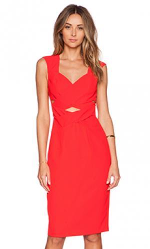 Платье с запахом flamboyant flame Lumier. Цвет: красный