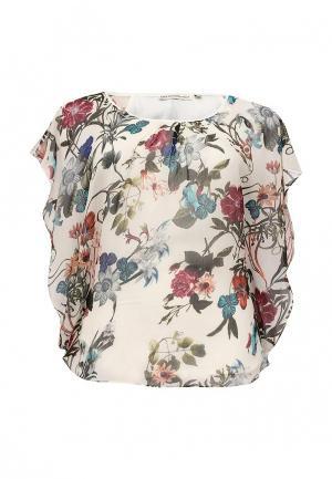 Блуза Emoi Size Plus. Цвет: бежевый