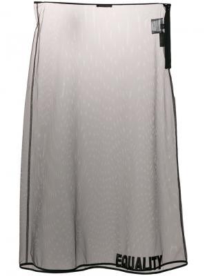 Equality embroidered sheer skirt Versace. Цвет: чёрный