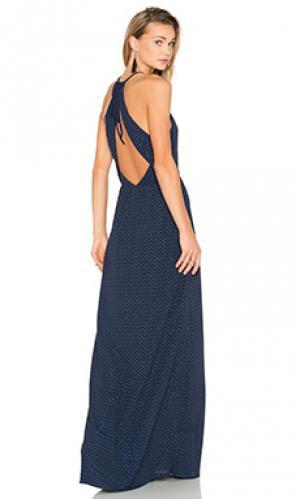 Макси платье Hoss Intropia. Цвет: синий