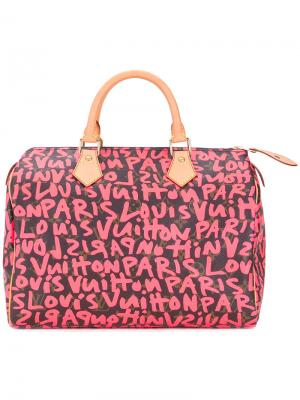 Сумка с граффити Speedy Louis Vuitton Vintage. Цвет: коричневый