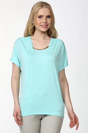 Блуза Sabra. Цвет: бирюзовый