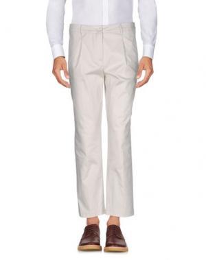 Повседневные брюки AGLINI. Цвет: слоновая кость