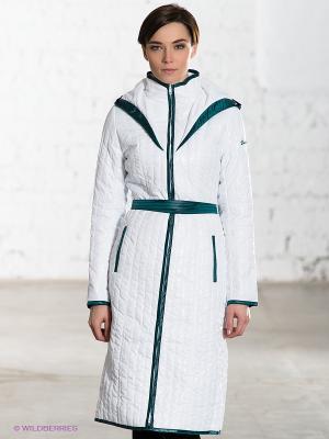 Пальто DOCTOR E. Цвет: белый, темно-зеленый