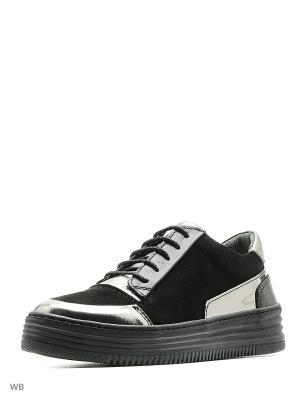 Ботинки Tucino. Цвет: черный, серебристый