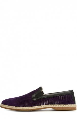 Лоферы Dolce & Gabbana. Цвет: фиолетовый