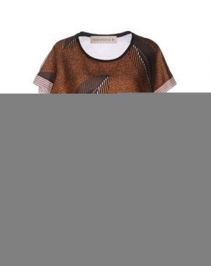 Блузка SHIRTAPORTER. Цвет: коричневый
